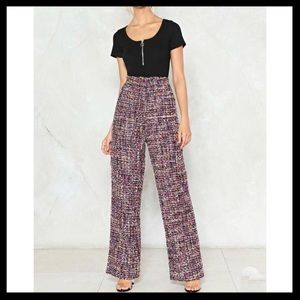 Nasty Gal Take The Tweed Wide Leg Pants